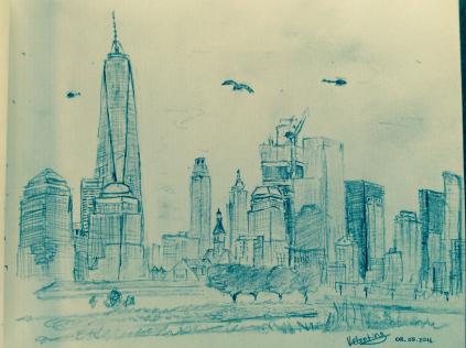 Manhattan depuis le Liberty State Park